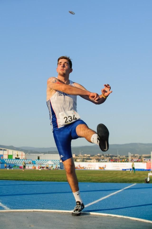 Adrián Baran hod diskom, Európsky olympijsky festival mládeže, Štvrtok, 30. Júla 2015, Tbilisi, Gruzínsko