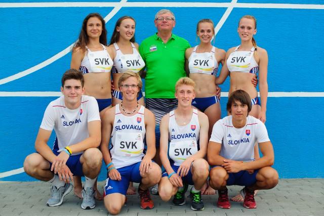 Chlapčenká a dievčenská štafeta 4x100m s trénerom Vladimírom Bezdíčkom, Európsky olympijsky festival mládeže, Piatok, 31. Júla 2015, Tbilisi, Gruzínsko