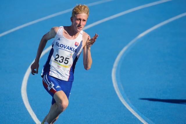 Jakub Benda v behu na 200m, Európsky olympijsky festival mládeže, Streda, 29. Júla 2015, Tbilisi, Gruzínsko