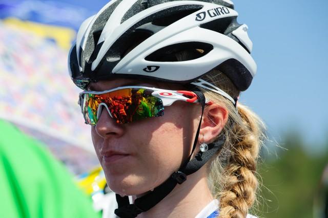 Lucia Michaličková na štarte pretekov cestnej cyklistiky, Európsky olympijsky festival mládeže, Štvrtok, 30. Júla 2015, Tbilisi, Gruzínsko