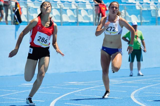 Patrícia Garčarová v behu na 200m, Európsky olympijsky festival mládeže, Streda, 29. Júla 2015, Tbilisi, Gruzínsko