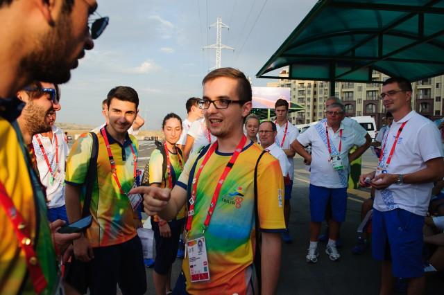Prípravy slovenskej delegácie na otvárací ceremoniál  Európskeho olympijskeho festivalu mládeže, Pondelok, 27. Júla 2015, Tbilisi, Gruzínsko