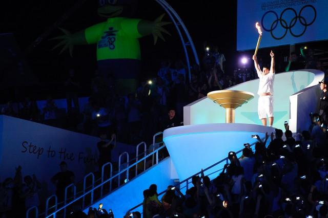 Slávnostné zapálenie olympijskeho ohňa Európskeho olympijskeho festivalu mládeže, Pondelok, 27. Júla 2015, Tbilisi, Gruzínsko