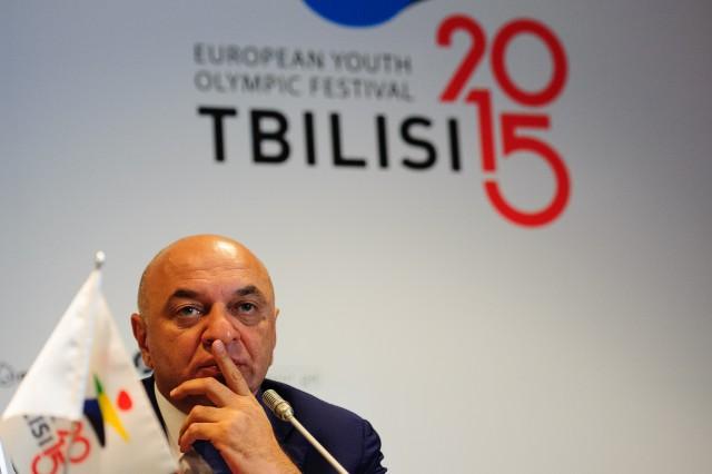 Úvodná otváracia tlačová konferencia Európskeho olympijskeho festivalu mládeže, Pondelok, 27. Júla 2015, Tbilisi, Gruzínsko