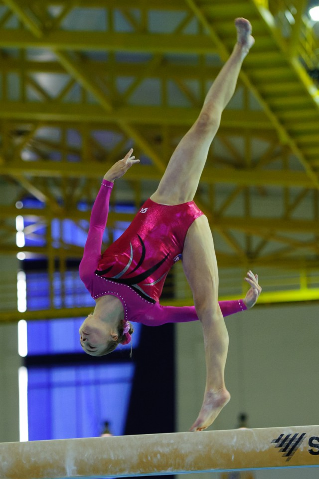 Viktória Vydúreková na kladine, Európsky olympijsky festival mládeže, Streda, 29. Júla 2015, Tbilisi, Gruzínsko
