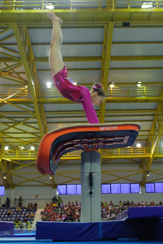 Viktória Vydúreková na preskoku, Európsky olympijsky festival mládeže, Streda, 29. Júla 2015, Tbilisi, Gruzínsko