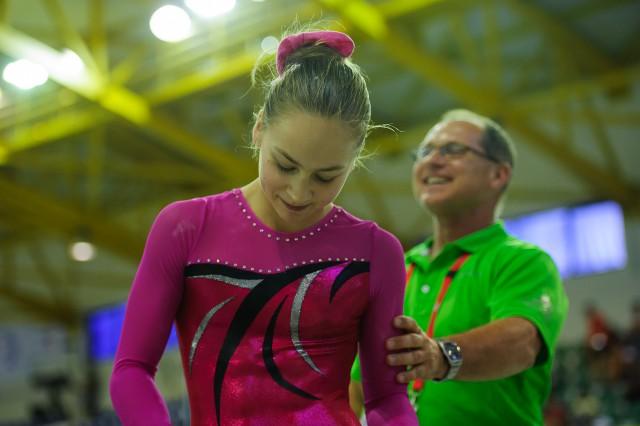 Viktória Vydúreková s trénerom Stanislavom Kútikom, Európsky olympijsky festival mládeže, Streda, 29. Júla 2015, Tbilisi, Gruzínsko